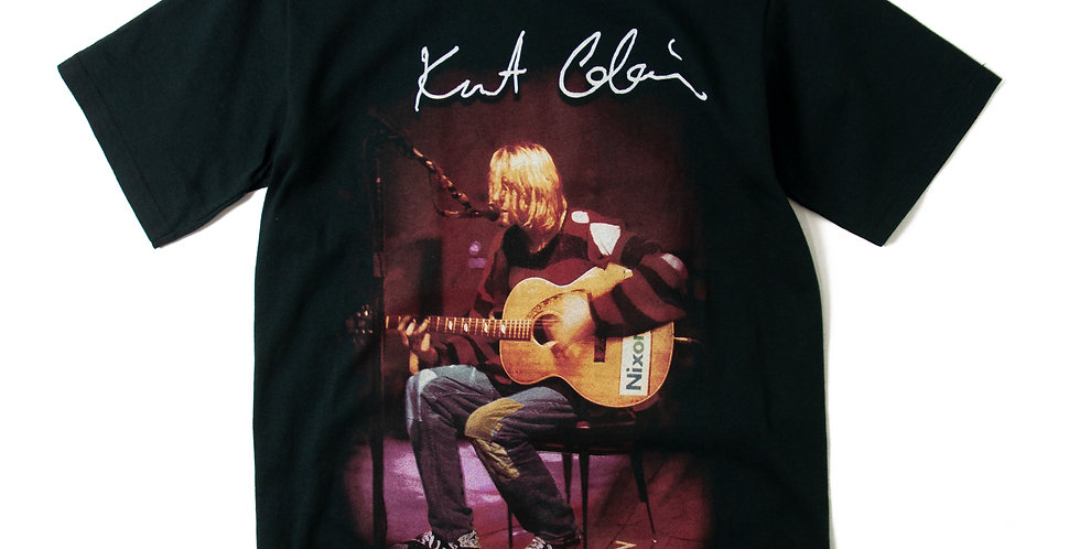 1990's Kurt Cobain Live Photo T Shirt S