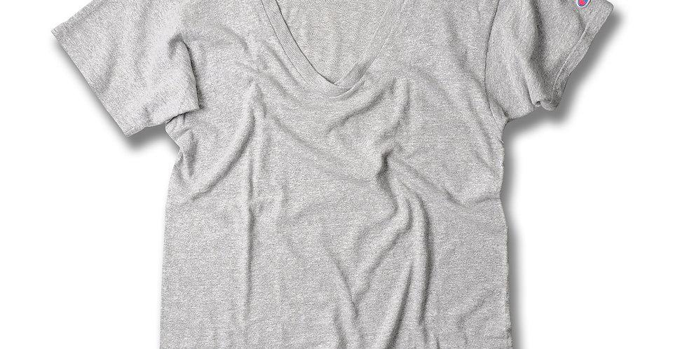 1980年代 チャンピオン 88/12 VネックTシャツ 無地 MEDIUM
