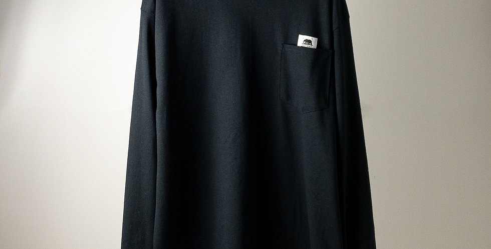 FREEWAY L/S POCKET T-SHIRT BLACK