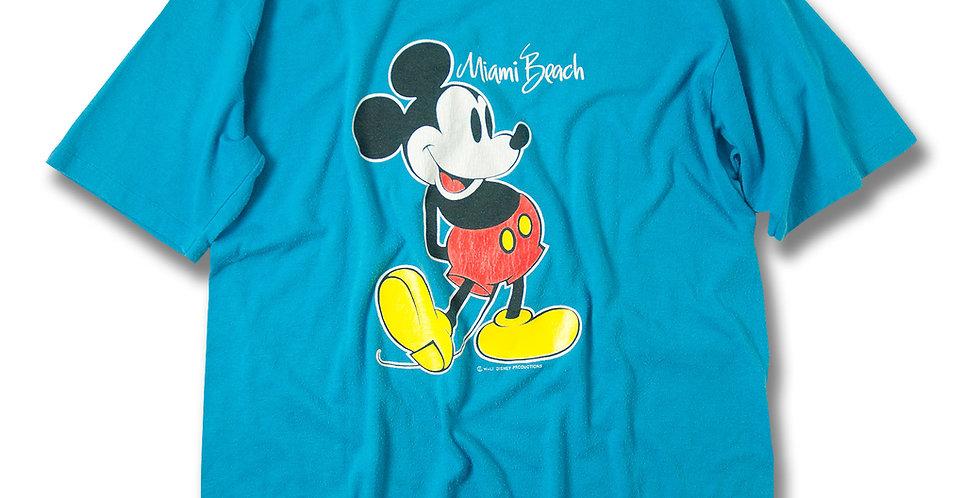 1980年代 ベルバシーン ミッキーマウス  Tシャツ ライトブルー