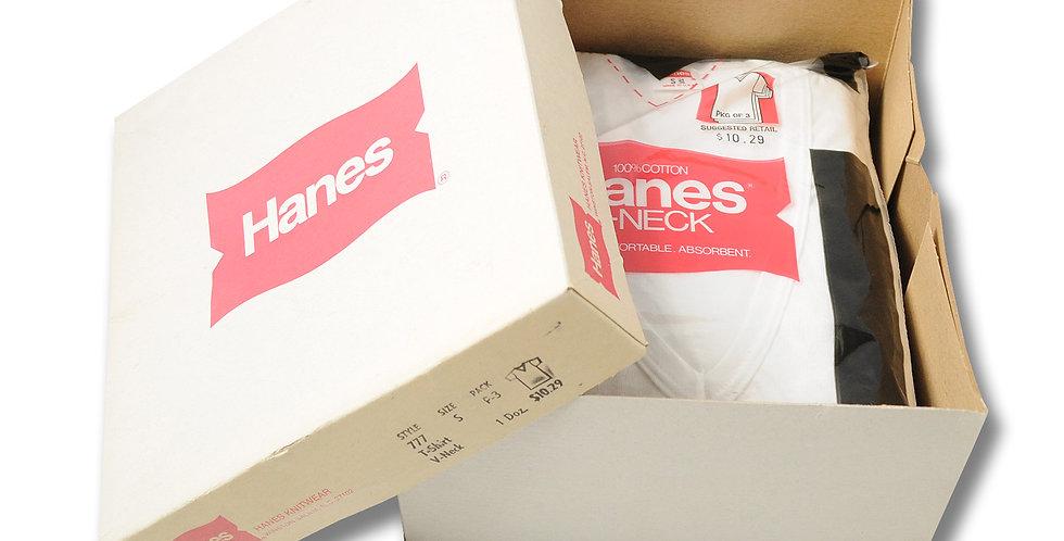 1979年 デッドストック Hanes DEEP Vネック Tシャツ ばら売り