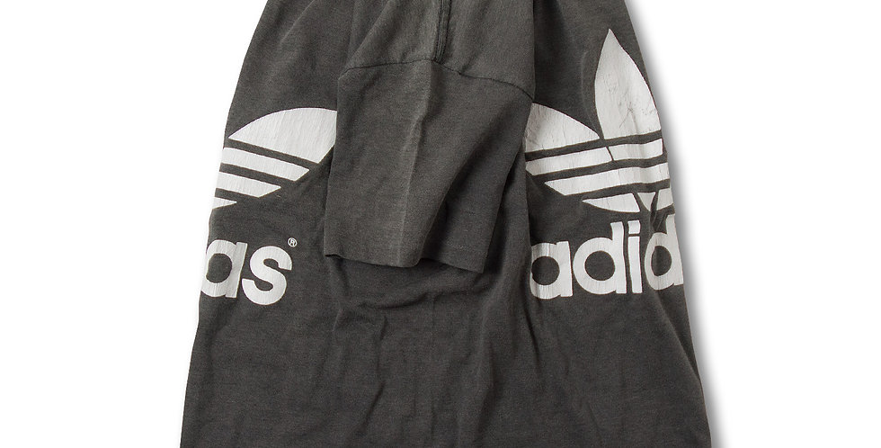 1980年代 サイズS アメリカ製 アディダス トレフォイル Tシャツ ブラック