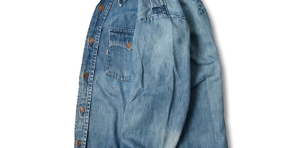 1970年代 リーバイス デニムシャツジャケット 白タブ ビッグE