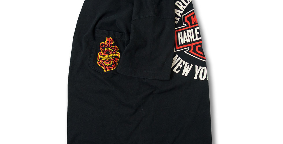 1980年代 HARLEY DAVIDSON プリントオン ポケット Tシャツ