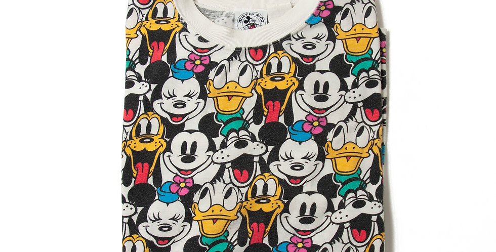 1990年代 ビンテージ ミッキーマウス 総柄 Tシャツ M-27