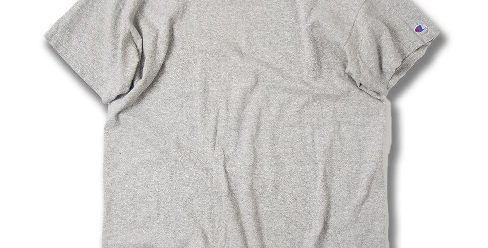 1980年代 チャンピオン 88/12 グレー杢 Tシャツ ステンシル