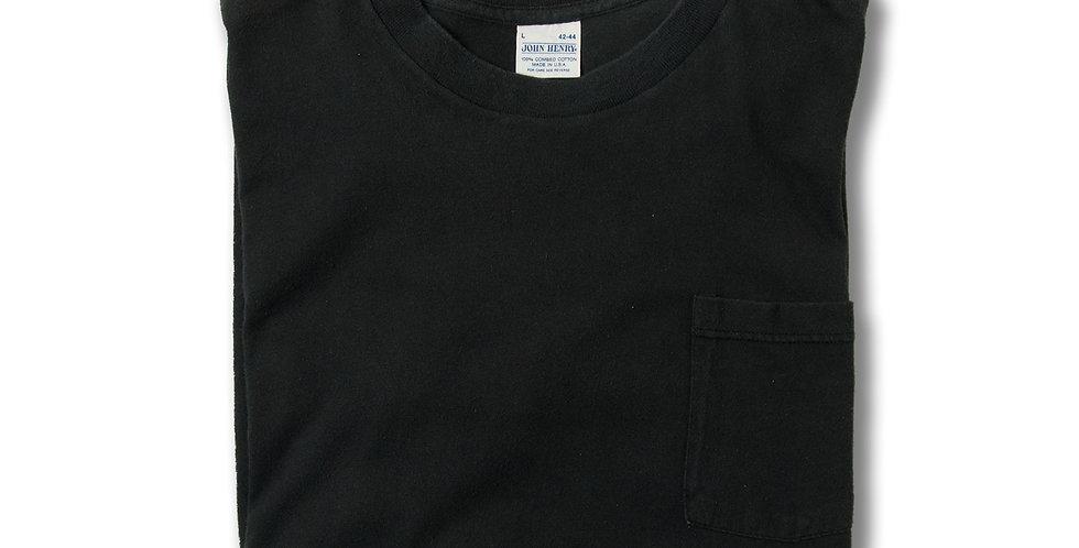 1980年代 アメリカ製 JOHN HENRY コットン ポケT ブラック L