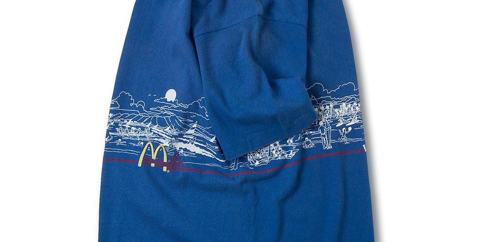 1980年代 CRAZY SHIRT マクドナルドロゴ WAIKIKI Tシャツ