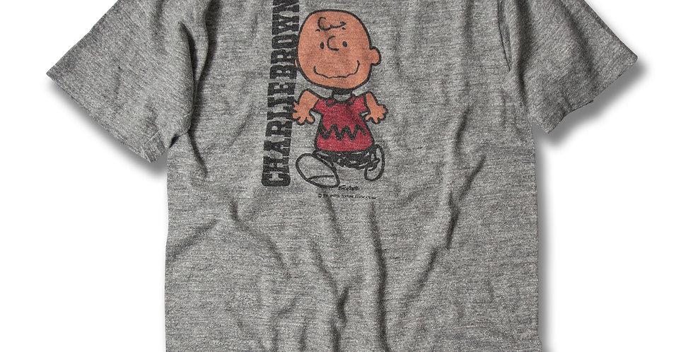 1980年代 チャーリーブラウン 染込みプリント Tシャツ sportswear