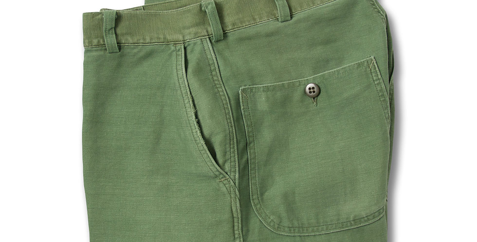 【30x31】 1960年代 U.S. NAVY UTILITY FATIGUE TROUSERS ラウンドポケット