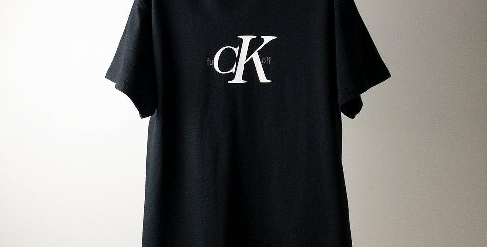 fu CK off Tシャツ ブラック