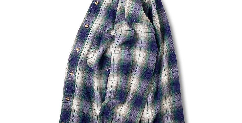 1990年代 ビッグマック オンブレーチェック フランネルシャツ