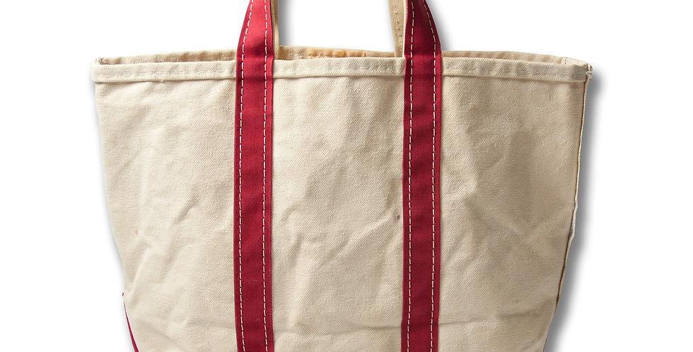 1980年代 LL BEAN BOAT & TOTE BAG キャンバストートバッグ 赤 Mサイズ