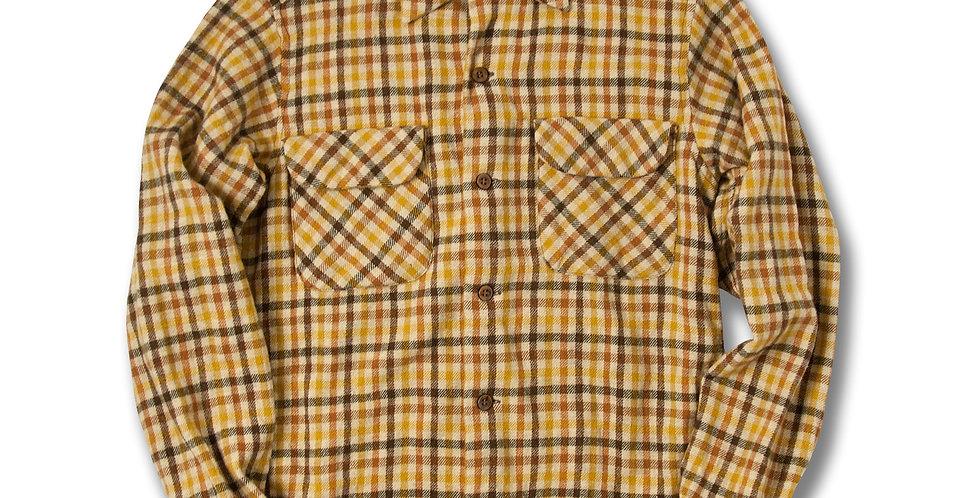 1960年代 ペンドルトン ボードシャツ S マスタード/ブラウン
