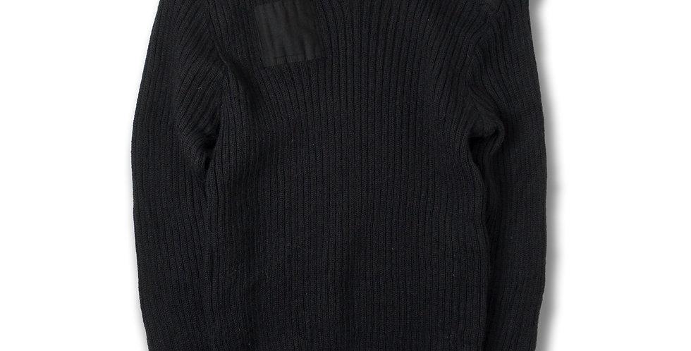 1990年代 The Woolly Pully Vネック コンバットセーター ブラック サイズ44