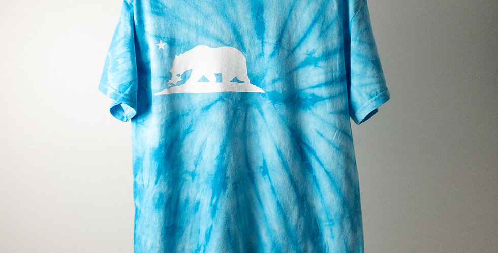 FREEWAY BIG-LOGO T-SHIRT TIEDYE BLUE