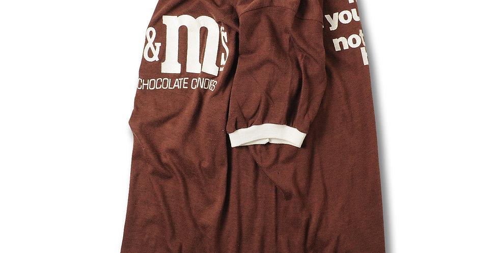 1970年代 ビンテージ M&M'S リンガーネックTシャツ