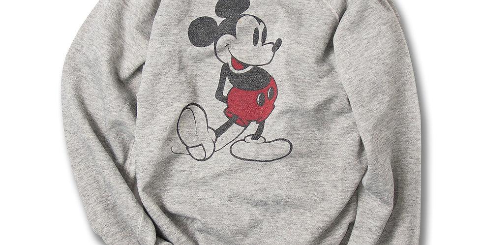 1980年代 ミッキーマウス ラグランスリーブ スウェット