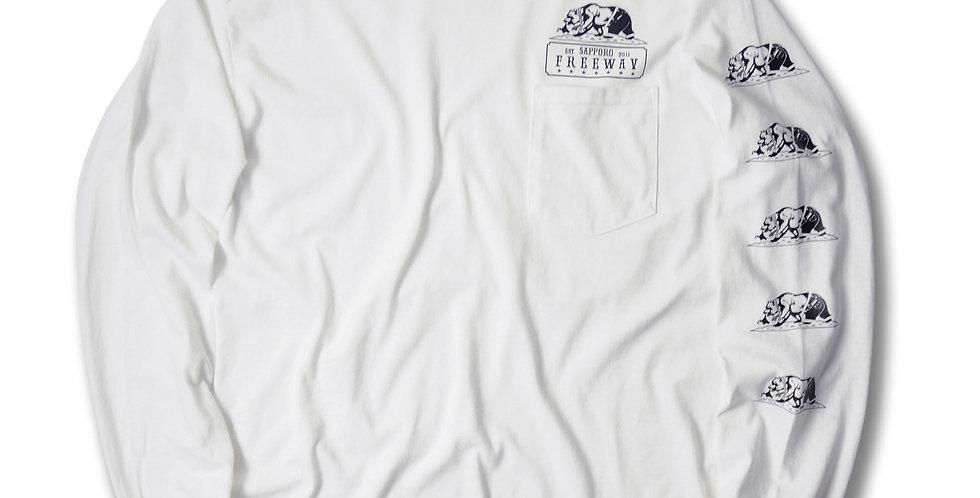 FREEWAY 6th Anniversary Long Sleeve T-SHIRT WHITE