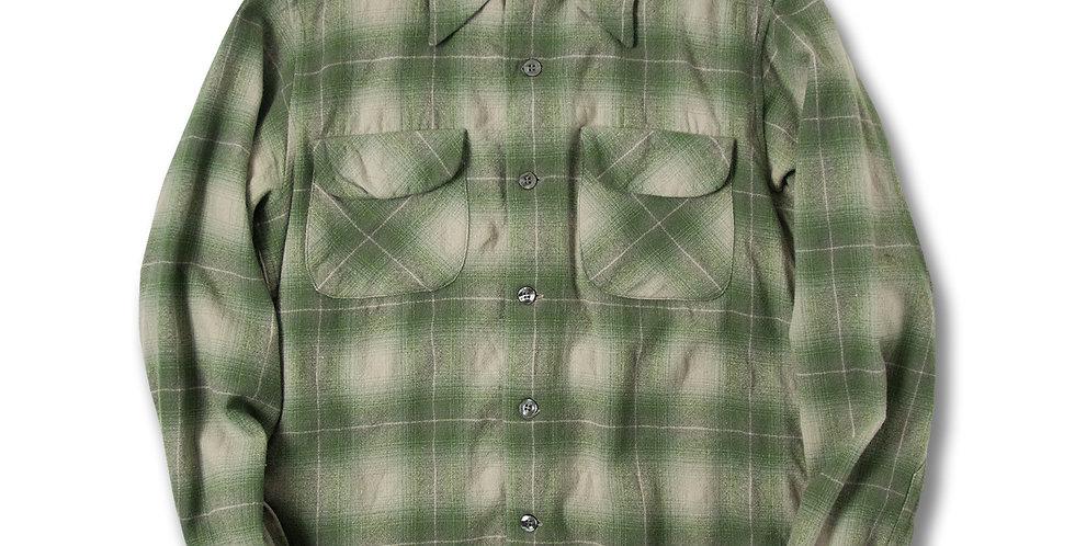 1970年代 ペンドルトン ボードシャツ 鶯(うぐいす)/グレー