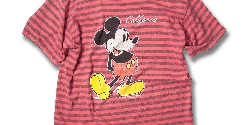 1990年代 ベルバシーン ミッキーマウス ボーダー Tシャツ