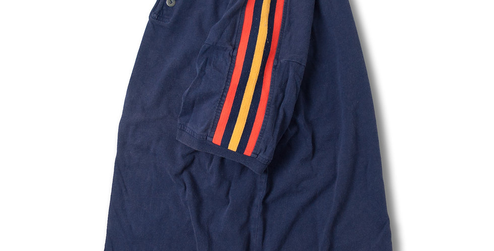 1980年代 ヘンリーネック 3ストライプ Tシャツ