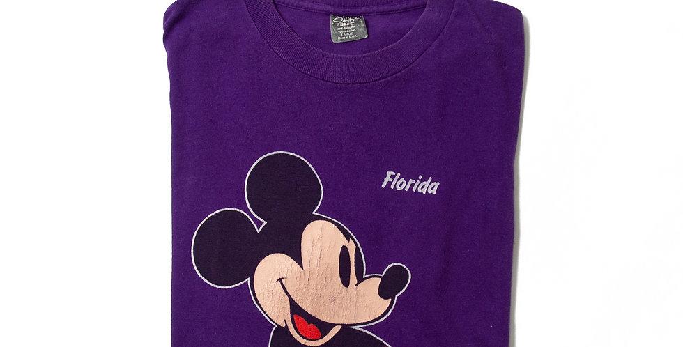【L】1980年代 ビンテージ ミッキーマウス Tシャツ M-13