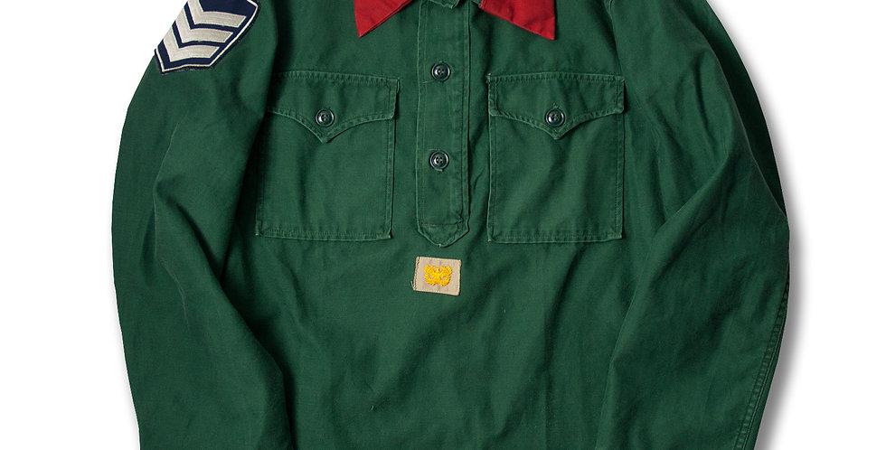 1960年代 US ARMY アグレッサーシャツ SMALL 階級衿章カバー付き