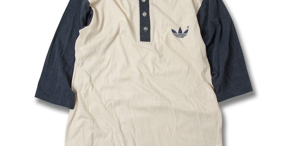 1980年代 アディダス ヘンリーネック ベースボールTシャツ