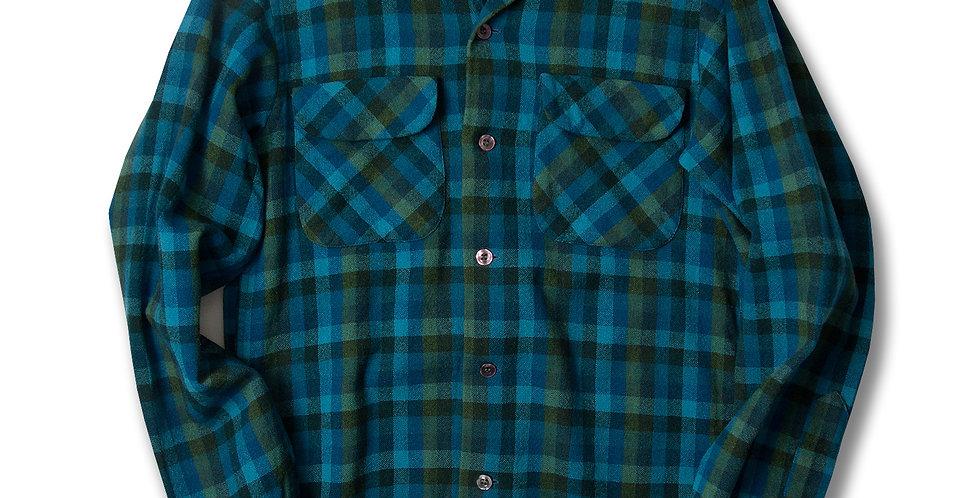 1960年代 ペンドルトン ボードシャツ Sサイズ  青/緑/紺