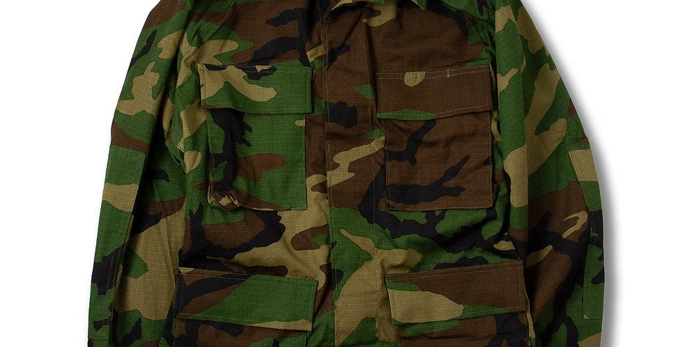 デッドストック U.S.ARMY B.D.U. JACKET WOODLAND CAMO