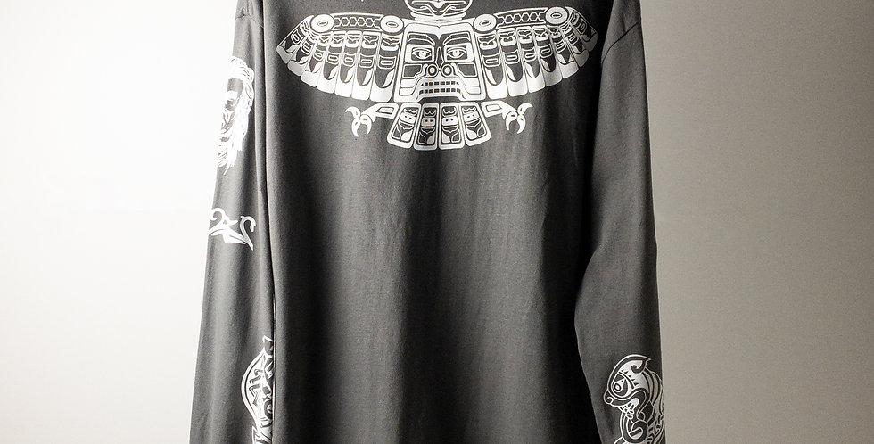 アンソニーキーディス タトゥー L/S Tシャツ チャコールグレー