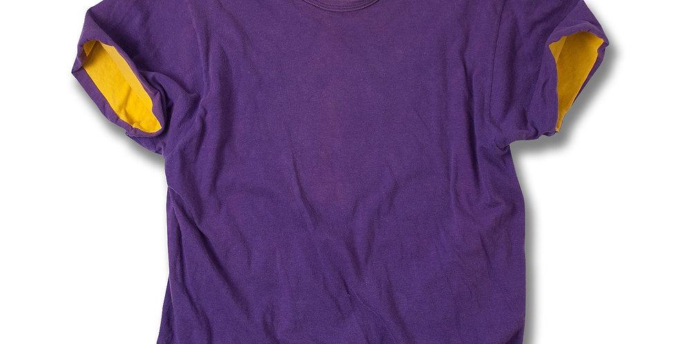 1980年代 チャンピオン リバーシブルTシャツ レイカーズカラー MEDIUM