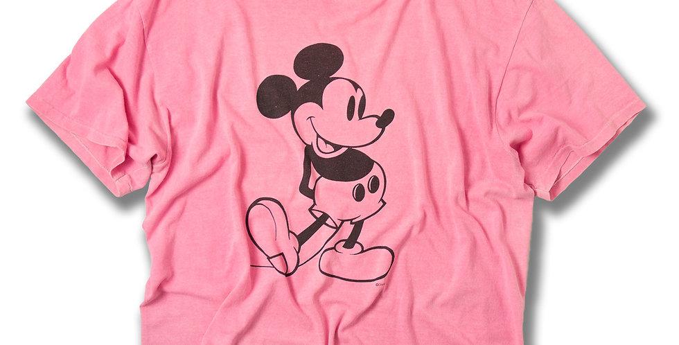 1980年代 ミッキーマウス オーバーダイ ピンクTシャツ