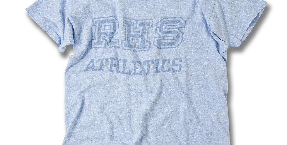 1970年代 チャンピオン ブルーバータグ RHS 染込みプリントTシャツ