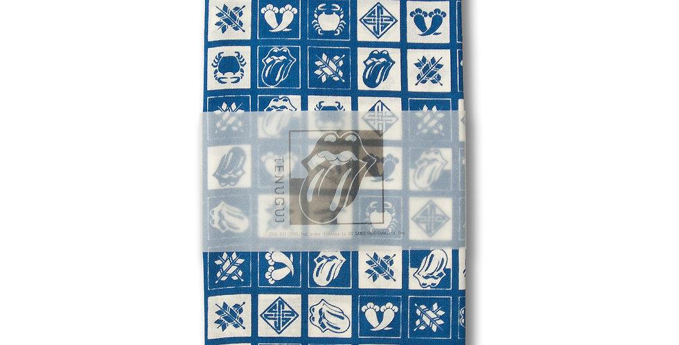 デッドストック ローリングストーンズ 2006年 ジャパンツアー限定 手ぬぐい 瑠璃