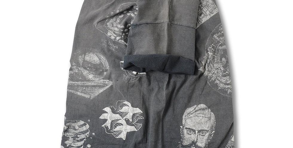 1991年 MCエッシャー マルチプリント Tシャツ