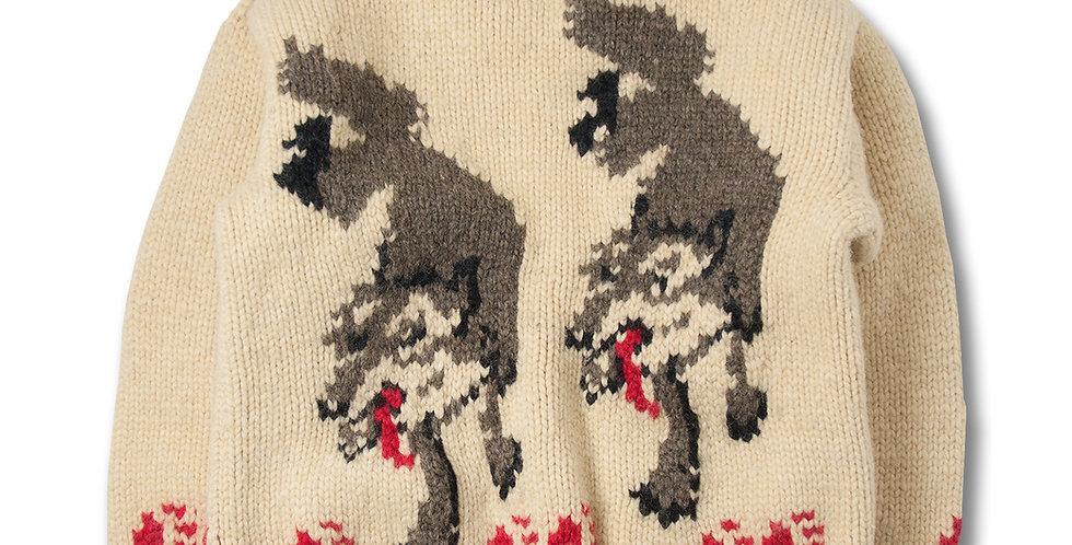 1950-60年代 ビンテージ ウルフ柄 カウチンセーター