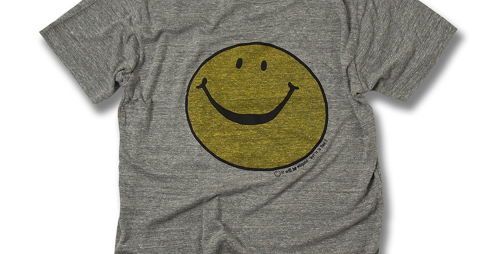 nogood SMILEY FACE MOKU-GRAY Tシャツ