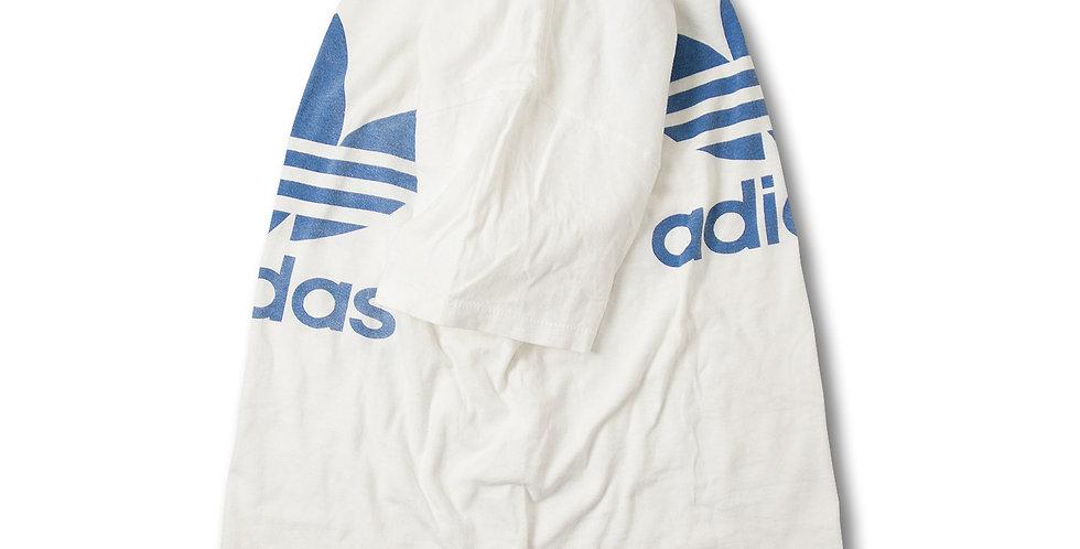 1980年代 アディダス トレフォイル コットン100% 染込みプリント Tシャツ