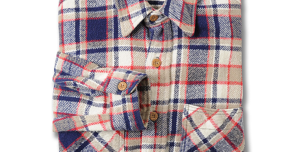 【SMALL】1980年代 BIGMAC ヘビーフランネルシャツ アメリカ製