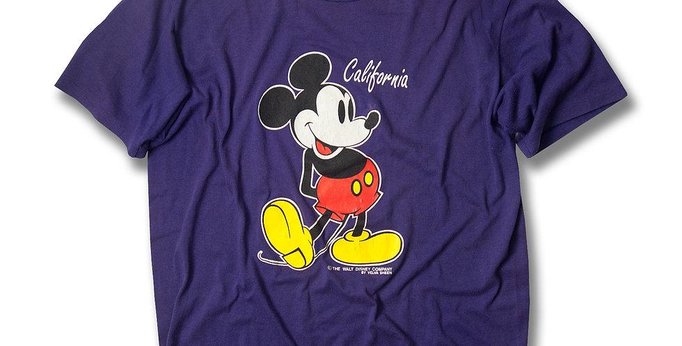 1990年代 ベルバシーン ミッキーマウス  Tシャツ パープル