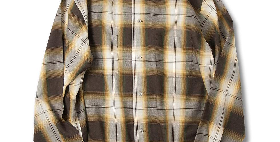1970年代 Sears オンブレチェック ボックスシャツ PERMA PREST