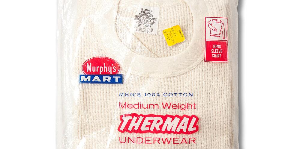 デッドストック 1980年代 Murphy's MART コットン100% サーマルシャツ by Hanes