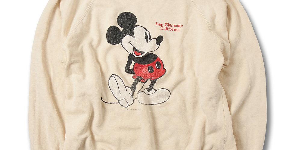 1980年代 Sherry ミッキーマウス ラグランスウェット サンクレメンテ