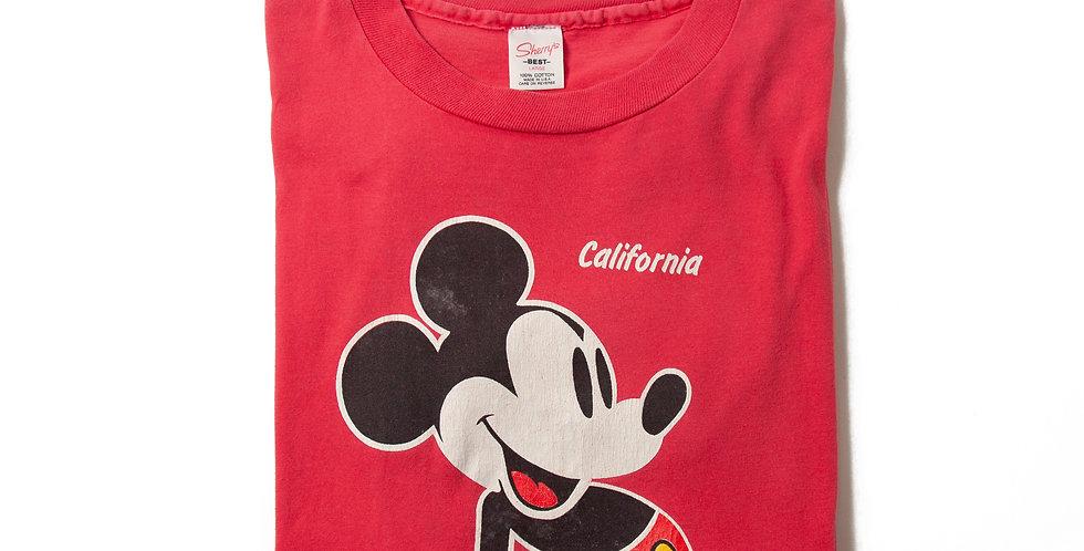 【L】1980年代 ビンテージ ミッキーマウス Tシャツ M-17