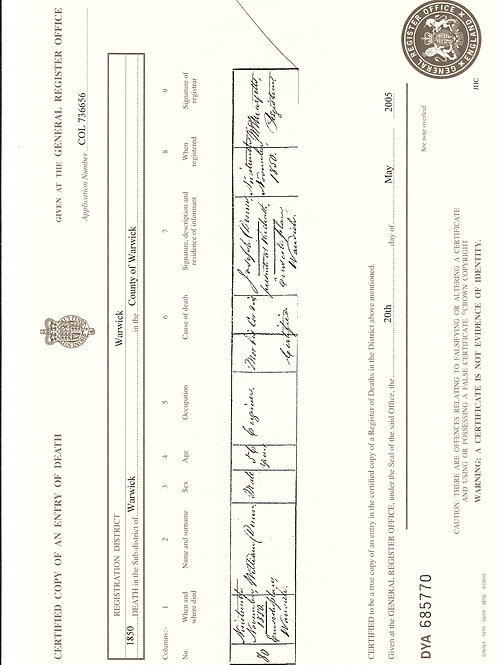 Civil Registration Certificates