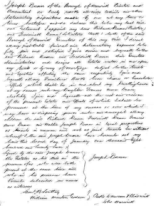 Post 1858 Wills