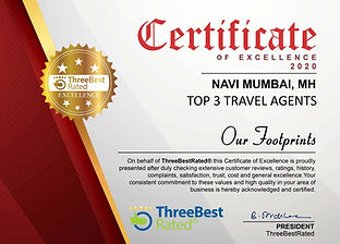 Top 3 Travel Agents Certificate
