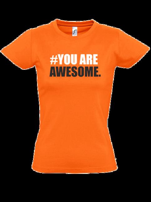 Koszulka #YouareAwesome DAMSKA